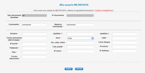 Alta con certificado digital en Metaposta