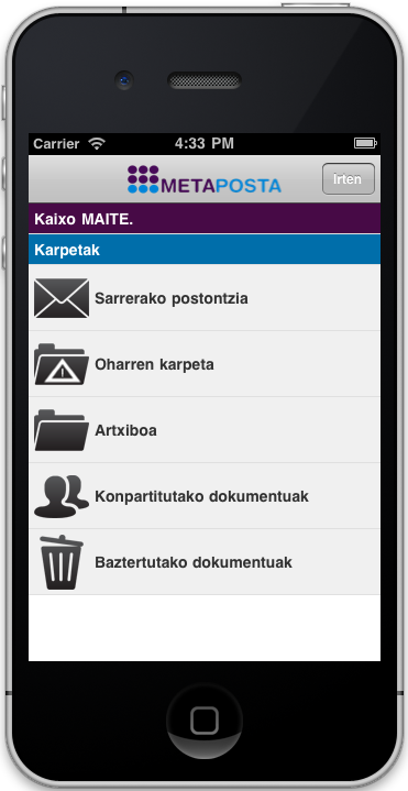 App Metaposta (iPhone)